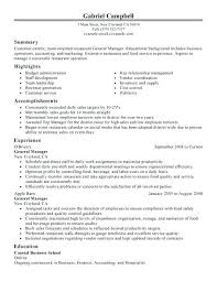 Hotel Manager Sample Resume Ideas Collection Hotel General Manager