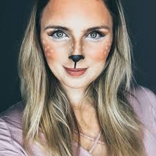 last minute costume easy deer costume makeup
