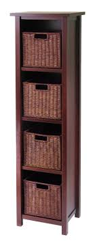 Storage Bin Cabinet 94411 Milan 5pc Storage Shelf With Baskets Cajpg
