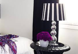lamp shades design black and white striped lamp shade crystal glass table lampshade drumshade vase flower purple colours for modern bed room design black