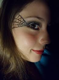 spider web cut crease halloween makeup full face