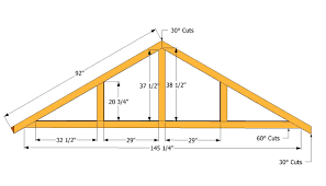 30 Foot Truss Design How To Build A Roof For A 12 X 16 Shed Building A Shed Roof
