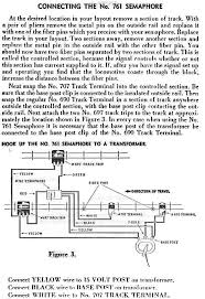 wireing diagram for american flyer steam locomotive 761 semaphore
