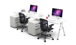 person office. 2 Person Workstation Bench - Ergonomic Desk Run White Leg Elements Office C