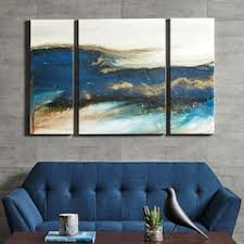 ink ivy rolling waves triptych canvas wall art 3 piece set on autumn tree set of 3 framed wall art prints with blue wall decor home decor kohl s