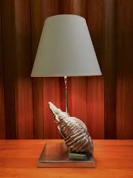 lighting treasures. beautiful treasures vintage fredrick cooper table lamp silver seashell conch shell modern beach  decor by offcentermodern on etsy for lighting treasures