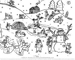 Snowy Day Coloring Page Coloring Page Snow Snow Day Coloring Sheet ...