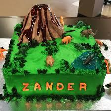 Dinosaurs With Volcano Birthday Cake Daddy Cakes Bakery Birthdays