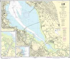 Noaa Nautical Chart 18651 San Francisco Bay Southern Part Redwood Creek Oyster Point