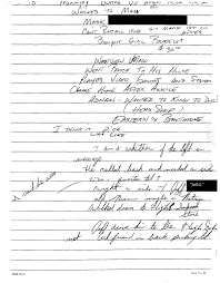 documents undisclosed podcast police notes from jay s interview 28 1999