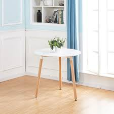 white round dining table desk and 2 dining chairs set for kitchen dining room