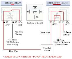 troubleshooting testing and bypassing spdt power trim tilt relays trim relays down energized wiring bmp
