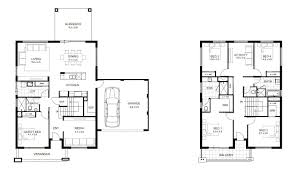 Floor Plan House Bedroom Plans Two Storey Design With Picturesque 2 Story 4  Bedrooms