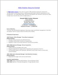 Fantastic Mba Resume Template 227612 Resume Ideas