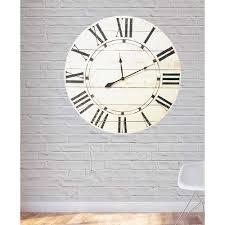 vintage white oversized farmhouse wall clock