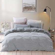 pure era ultra soft egyptian quality jersey knit cotton home bedding duvet cover set stripe