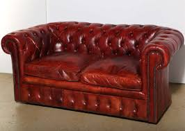 american mahogany red leather chesterfield sleeper sofa and loveseat for