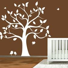 childrens wall decal tree silhouette with erflies