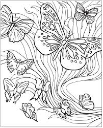 Volwassenen Kleurplaat Vlinders Adult Coloring Page Butterfly