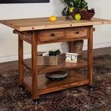 farmhouse style kitchen island from rustic barn wood