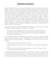 Conference Summary Report Template Minutes Of Meeting Sample 7 ...