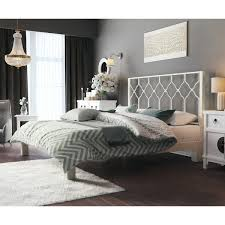 white metal headboard. Modren Metal Honeycomb White Metal Headboard And Aura Platform Bed Inside L