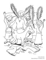 Small Picture Palm Sunday Coloring Pages GetColoringPagescom