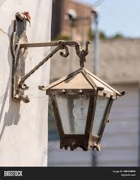 Old Gas Wall Lights Old Street Light Image Photo Free Trial Bigstock