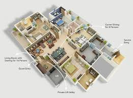 ide modern four bedroom house plans modern house design ideas