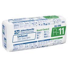 johns manville sound shield r 11 fiberglass batt insulation with sound barrier 24