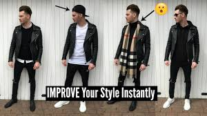 mens fashion 2018 street style how to style a leather jacket spring lookbook