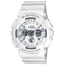 casio g shock world time white analog digital watch ga 120a 7ajf