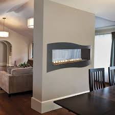 boulevard see through 48 inch vent free linear fireplace