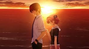 anime sad couple wallpapers wallpaper
