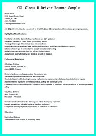 Epic Commercial Truck Driver Resume Sample With Cdl Driver Resume