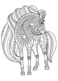 Disegno Di Un Cavallo Da Colorare Con Disegni Di Cavalli Da Stampare