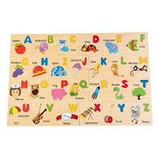 wooden floor puzzle alphabet