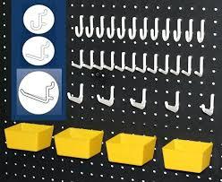 Pegboard storage bins Triton Products Tools Organizer Wall Pegboard Kit Plastic Bins Pegs Tool Storage Garage Hair Deathruninfo Tools Organizer Wall Pegboard Kit Plastic Bins Pegs Tool Storage