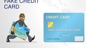 Fake Fake Credit Card Card Credit