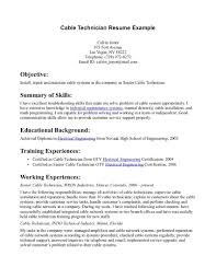 Network Cable Installer Resume Examples Templates Objective Example ...