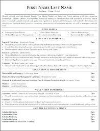 Dental School Resume Sample Dental Resume Template And Dental School