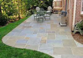 flagstone patio with grass. Flagstone Patio Modern With Grass I