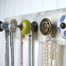 Great way to hang necklaces with cupboard knobs. For a wide selection click  below: