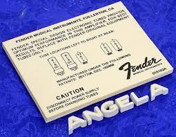 Genuine Fender Tube Chart 7 N O S 70s 80s 6l6gc 6l6gc 12at7 7025 7025