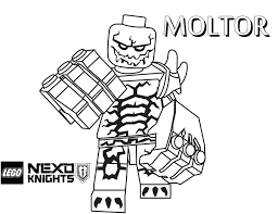 Lego Nexo Knights Coloring Pages Getcoloringpagescom