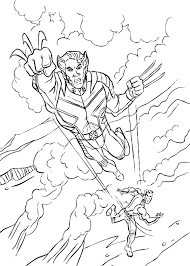 Small Picture Wolverine coloring pages Hellokidscom