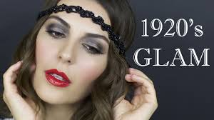 makeup hair tutorial 1920 s flapper