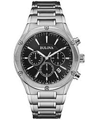 mens watches macy s bulova men s chronograph stainless steel bracelet watch 43mm 96b247