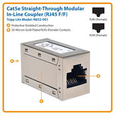 amazon com tripp lite cat5e straight through modular in line view larger