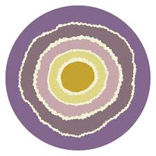 Bullseye Pattern Adorable Geode Round Graphic Bullseye Pattern Bold Rug By Interiors By